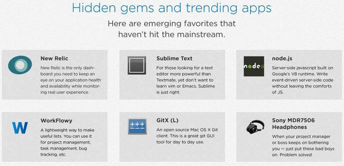 Infographie : La boîte à outils du développeur - Applications tendances