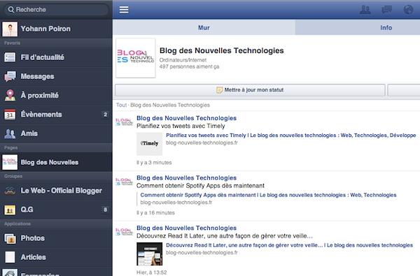 Le 'Responsive Web Design' vu par Facebook - Facebook Mobile