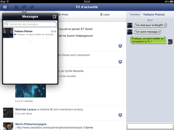 Le 'Responsive Web Design' vu par Facebook - Facebook iPad