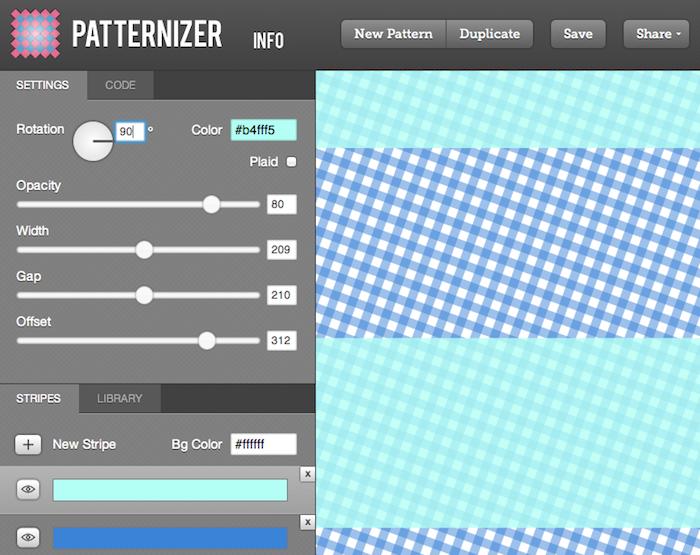 Les 10 meilleures ressources HTML5 en ligne pour les graphistes - Génération de background