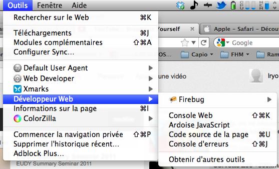 Obtenir la nouvelle barre de navigation Google dès maintenant - Console Web sous Firefox