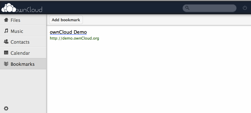 ownCloud, un concurrent Open Source à Dropbox et Box.Net - Gestion des bookmarks