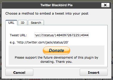 Plus besoin de prendre une capture d'un tweet pour l'intégrer sur votre site - Plugin Twitter Blackbird Pie