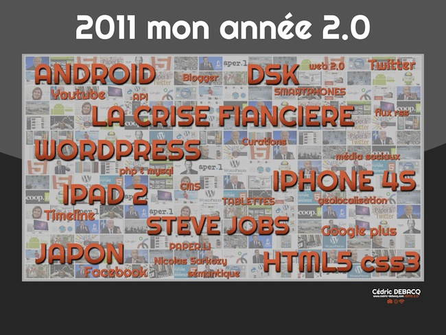 Rétrospective de l'année 2011 par des blogueurs et lecteurs - Cédric DEBACQ