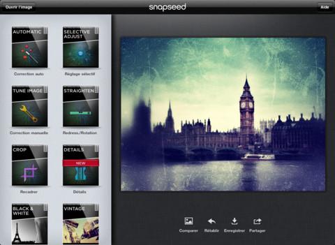 Vous venez d'avoir un iPad ? Voici les premières applications indispensables à installer - Snapseed