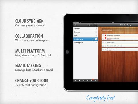 Vous venez d'avoir un iPad ? Voici les premières applications indispensables à installer - Wunderlist