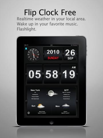 Vous venez d'avoir un iPad ? Voici les premières applications indispensables à installer - Flip Clock HD