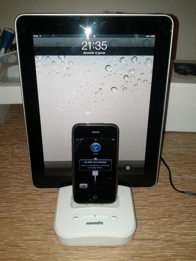 Concours : Novodio Twindock, pour charger iPhone et iPad en même temps - Chargement des dispositifs