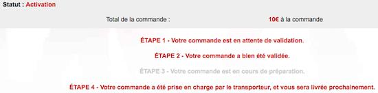 Espace abonné sur mobile.free.fr ouvert