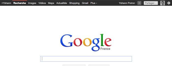 Google fait marche arrière et affiche de nouveau une barre de navigation noire...