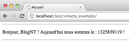 Introduction au framework Smarty - Test d'affichage Smarty avec un modificateur