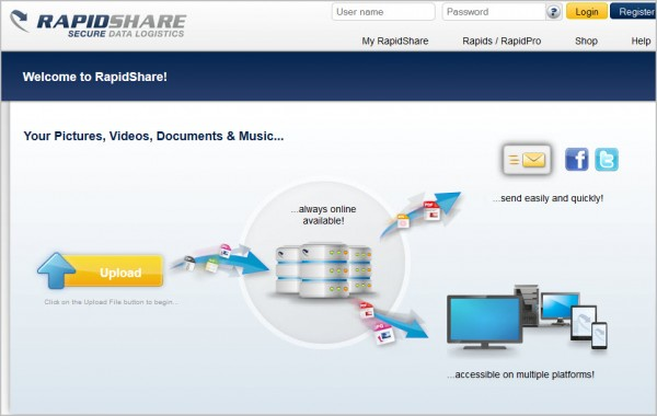 Megaupload out, voici quelques alternatives... - Rapidshare