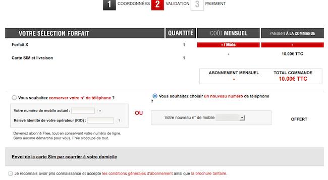 mobile.free.fr : les différentes étapes pour s'inscrire à Free Mobile - Validation