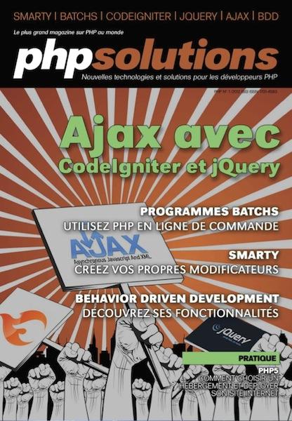 PHP Solutions - Janvier 2012 - Ajax avec CodeIgniter et jQuery
