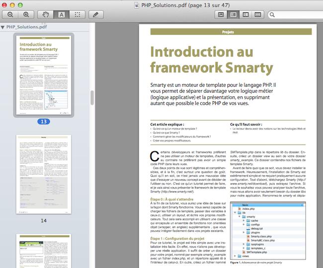 PHP Solutions - Janvier 2012 - Ajax avec CodeIgniter et jQuery - Introduction au framework Smarty