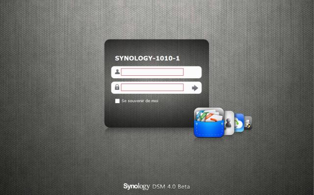 Présentation du nouveau DSM4 de Synology - Login page