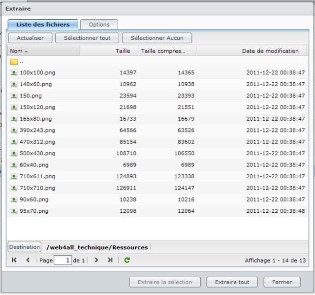 Présentation du nouveau DSM4 de Synology - FileStation navigation dans archives