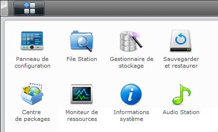 Votre Cloud personnel avec votre NAS Synology et le DSM4 - Menu applications