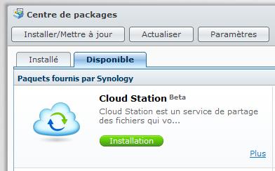 Votre Cloud personnel avec votre NAS Synology et le DSM4 - Package Cloud Station