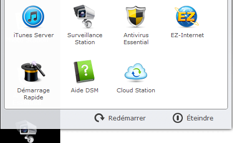 Votre Cloud personnel avec votre NAS Synology et le DSM4 - Menu applications icône Cloud Station