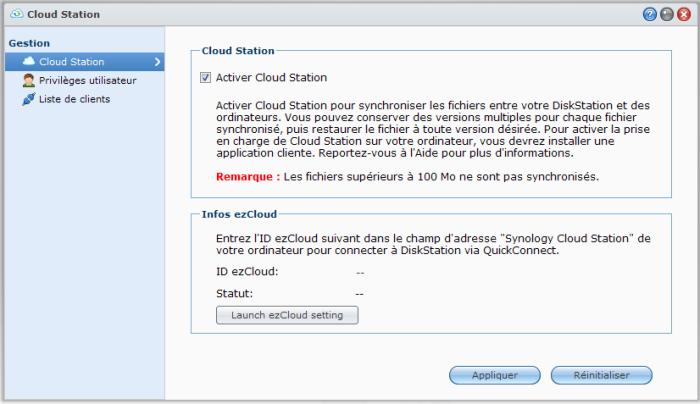 Votre Cloud personnel avec votre NAS Synology et le DSM4 - Cloud Station Configuration