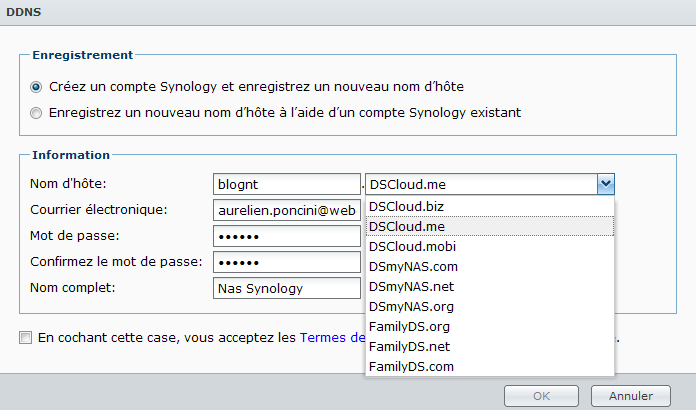 Votre Cloud personnel avec votre NAS Synology et le DSM4 - ezCloud DDNS