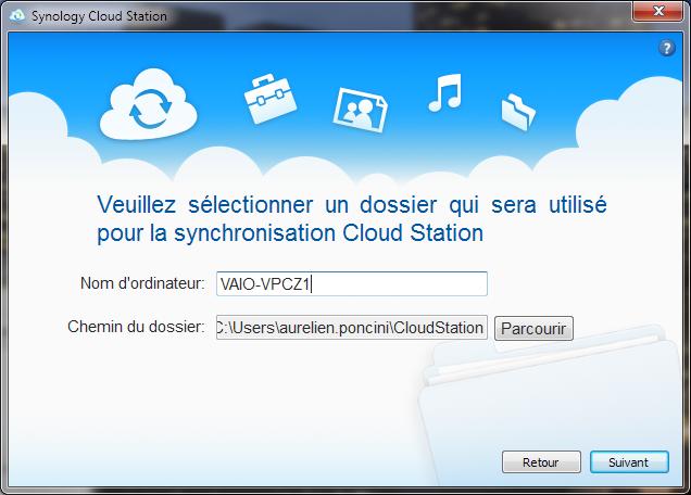 Votre Cloud personnel avec votre NAS Synology et le DSM4 - Cloud Station Installation Win7