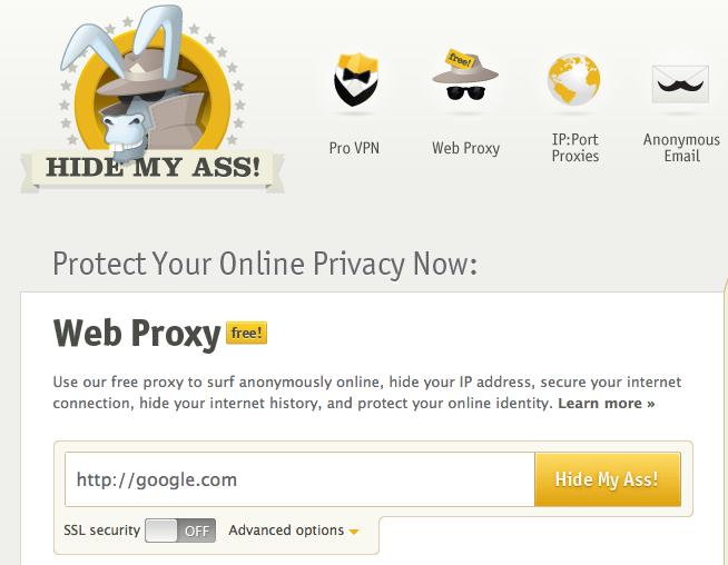 5 outils pour surfer anonymement sur le Web - HideMyAss