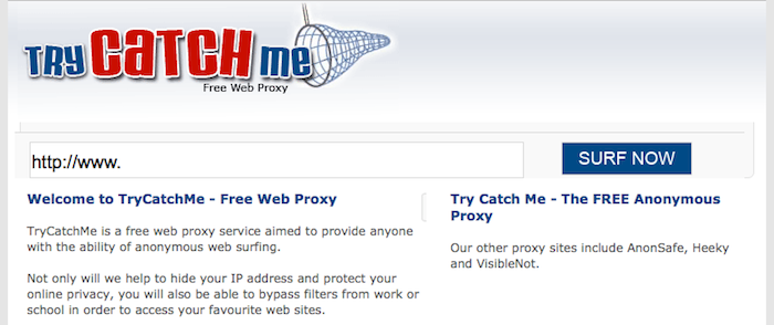 5 outils pour surfer anonymement sur le Web - TryCatchMe