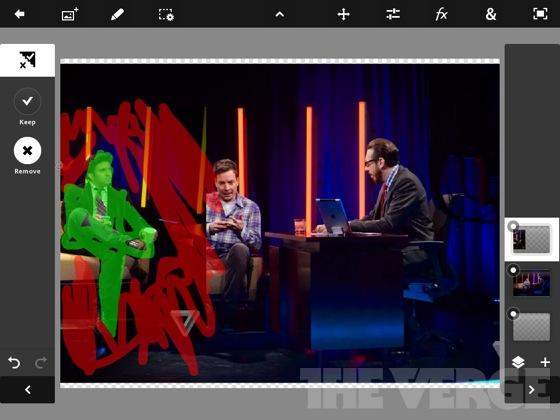 Adobe Photoshop Touch pour iPad : l'avenir de la création de contenu ? - Suppression d'une zone par gribouillis