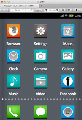 Découvrez la plateforme mobile Mozilla, Boot2Gecko, et son interface utilisateur Gaia - Liste des applications
