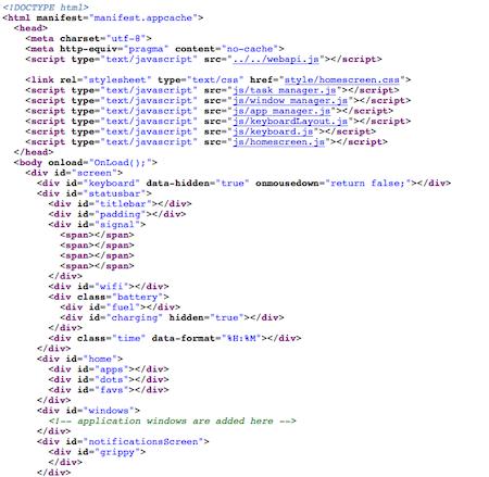 Découvrez la plateforme mobile Mozilla, Boot2Gecko, et son interface utilisateur Gaia - Code source de la page