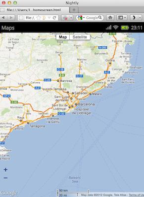 Découvrez la plateforme mobile Mozilla, Boot2Gecko, et son interface utilisateur Gaia - Application de cartographie