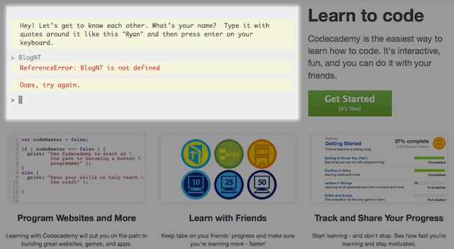 Des façons d'apprendre à coder gratuitement - Codecademy