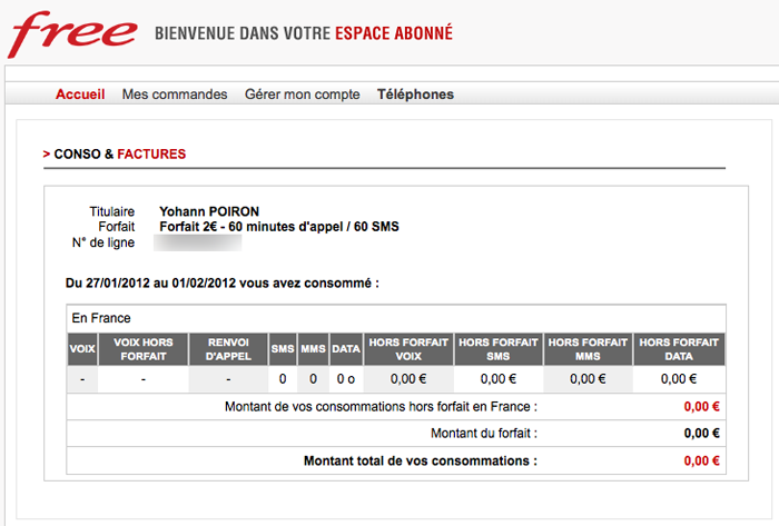 espace abonn? free mobile version mobile