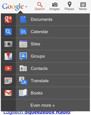 Google Mobile teste une nouvelle barre de navigation - Suite des services