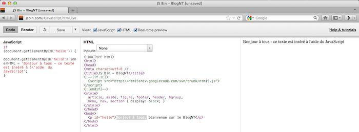 JSBin : testez votre code en ligne et partagez-le avec votre équipe