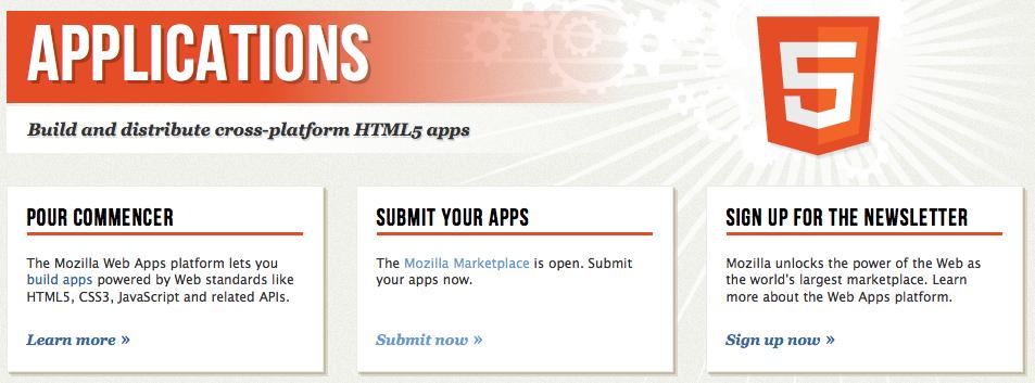 Le Marketplace de Mozilla officiellement ouvert aux soumissions d'applications en HTML5 -