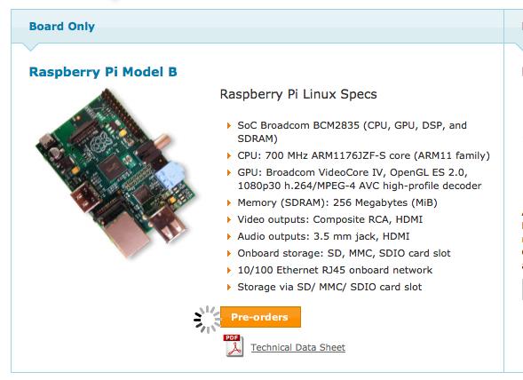 Le Raspberry Pi en vente dès aujourd'hui : modèle B à 33€ et modèle A à 23€