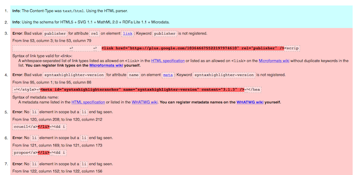 Le W3C lance un nouveau service de validation de balisage pour HTML5