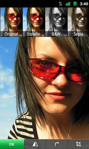 Lightbox pour Android, une alternative très sérieuse à Instagram - Filtre sur une photo