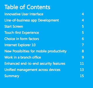 Microsoft dévoile son guide destinée aux entreprises pour Windows 8 Consumer Preview