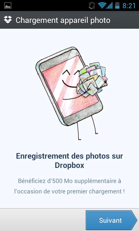 Récupérer de nouveau 3 Go d'espace de stockage sur votre Dropbox - Enregistrement des photos sur Dropbox