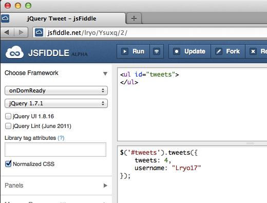 Rendre votre développement Web aisé avec jsFiddle - Numéro de version d'un fiddle