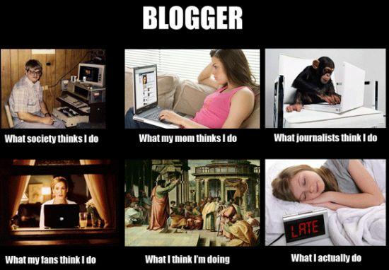 What People Think I Do / What I Really Do - Des images humoristiques sur les métiers du Web - Blogueur
