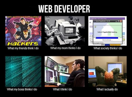What People Think I Do / What I Really Do - Des images humoristiques sur les métiers du Web - Développeur Web