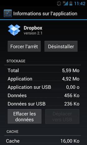 23 Go sur votre Dropbox depuis votre Android c'est possible !
