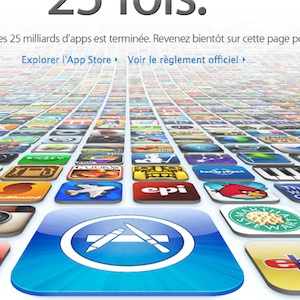25 milliards de téléchargement d'applications sur iTunes