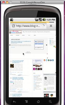 BrowserStack la solution ultime pour tester vos sites / applications Web sur les dispositifs mobiles - Test BlogNT sur Android
