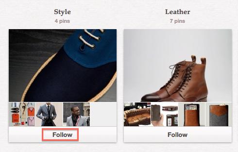 Comment le following fonctionne sur Pinterest ? - Suivre des boards